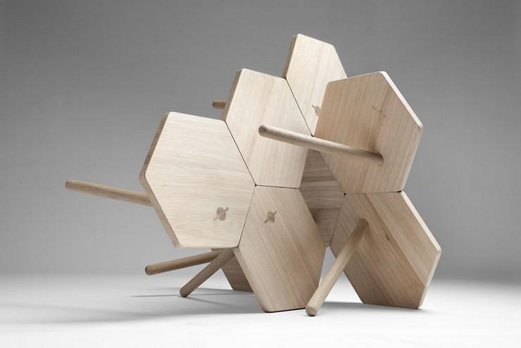 """""""Los diseñadores Flip Sellin y Markus Dilger de la firma Coordination, se inspiraron en la artesanía tradicional.""""  Ideas para Decorar: Mesa Lean de Coordination 31"""