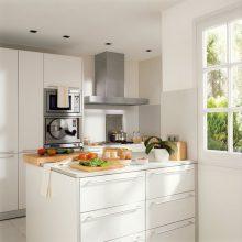 """""""Las cocinas pequeñas pueden ser tan cómodas, funcionales y parecer tan grandes como deseamos""""  Grandes Ideas para Decorar Cocinas Pequeñas. 15 isla 220x220"""