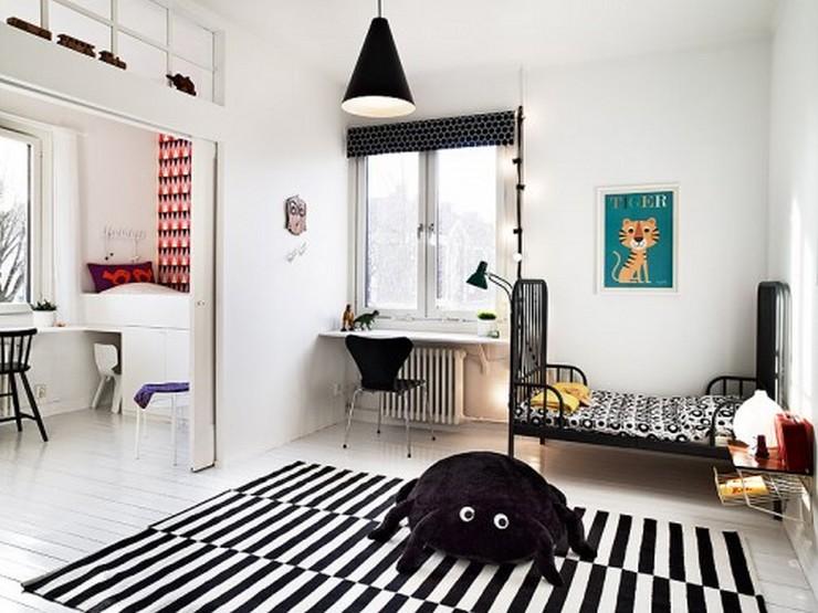 """""""No descartes el negro como color para los muebles de un dormitorio infantil""""  Muebles Negros para el Dormitorio Infantil 162"""