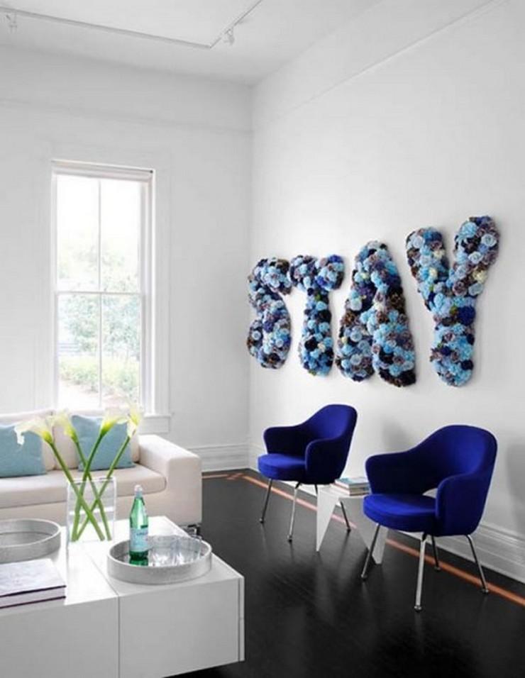 """""""Las letras son un recurso decorativo idóneo al que recurrir para transformar cualquier espacio y darle un aire nuevo""""  Letras Decorativas para todo tipo de Espacios 21"""