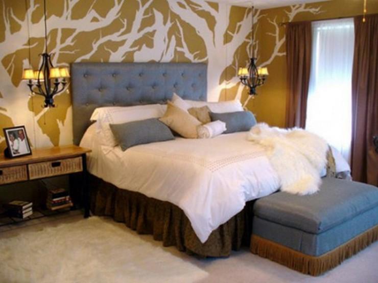 """""""Las paredes no sólo son funcionales, sino que también son una parte integrante de la decoración de interiores.""""  Cómo Decorar las Paredes del Dormitorio Principal 332"""