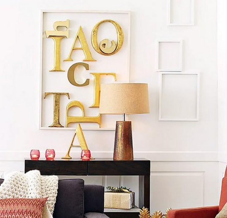 """""""Las letras son un recurso decorativo idóneo al que recurrir para transformar cualquier espacio y darle un aire nuevo""""  Letras Decorativas para todo tipo de Espacios 34"""