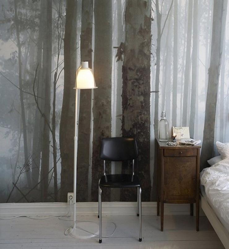 """""""Las paredes no sólo son funcionales, sino que también son una parte integrante de la decoración de interiores.""""  Cómo Decorar las Paredes del Dormitorio Principal 35 mural"""