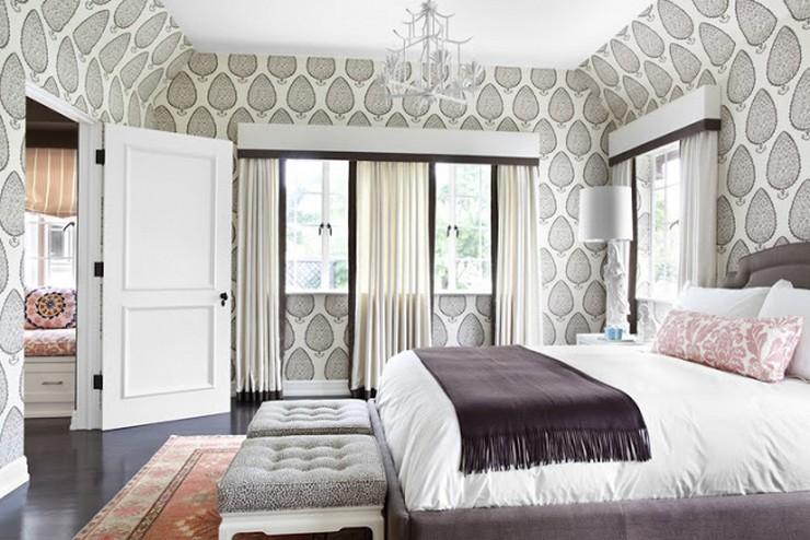 """""""Las paredes no sólo son funcionales, sino que también son una parte integrante de la decoración de interiores.""""  Cómo Decorar las Paredes del Dormitorio Principal 39 papel en todas las paredes"""
