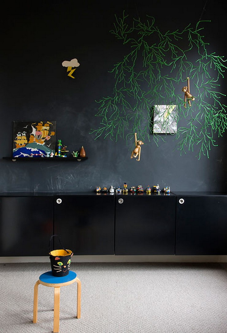 """""""No descartes el negro como color para los muebles de un dormitorio infantil""""  Muebles Negros para el Dormitorio Infantil 8"""