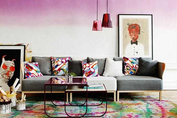 """""""Una nueva capa de pintura puede transformar cualquier habitación y más aún si se emplea una técnica tan novedosa como el efecto ombré""""  Pintar una Pared en Tonos Degradé 95"""