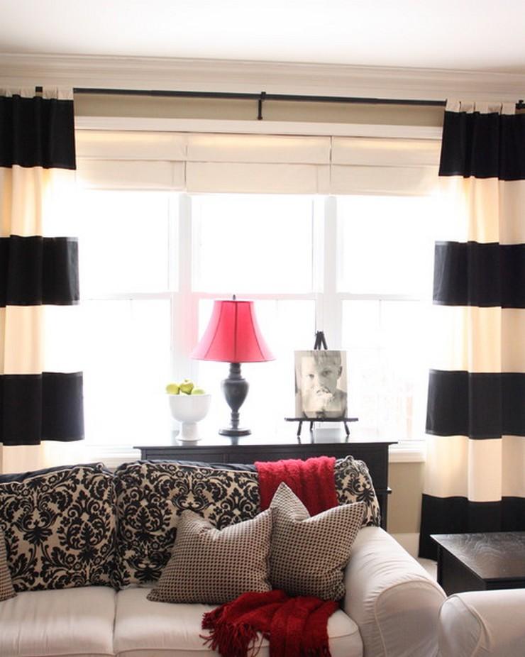 """""""Una vivienda de alquiler puede estar a la altura de una vivienda propia."""" Casa de Alquiler 5 Buenas Ideas para Decorar una Casa de Alquiler cortinas rayas"""