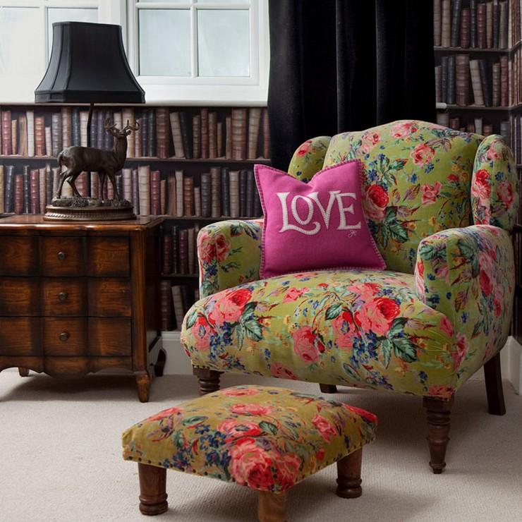 """""""Elegir el estampado de un sofá, de una alfombra, de los cojines o hasta de la ropa de cama puede llegar a ser decisivo para la decoración""""  Decorar con Diseños de Estampados a Todo Color 10"""