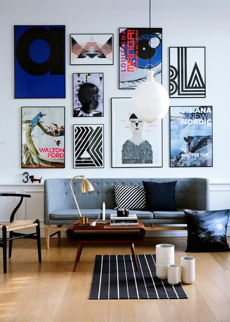 """""""Posters a gusto del consumidor y unos sencillos marcos negros para una pared llena de personalidad y de lo más atractiva""""  Las Paredes Vestidas, Mucho Más Atractivas: Arte Enmarcado o Framed Art 116"""