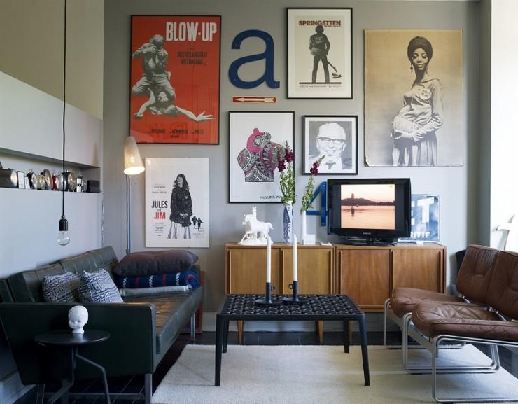 """""""Posters a gusto del consumidor y unos sencillos marcos negros para una pared llena de personalidad y de lo más atractiva""""  Las Paredes Vestidas, Mucho Más Atractivas: Arte Enmarcado o Framed Art 117"""