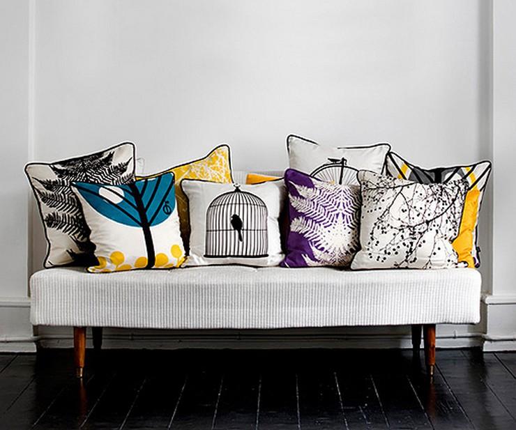 """""""Elegir el estampado de un sofá, de una alfombra, de los cojines o hasta de la ropa de cama puede llegar a ser decisivo para la decoración""""  Decorar con Diseños de Estampados a Todo Color 12"""