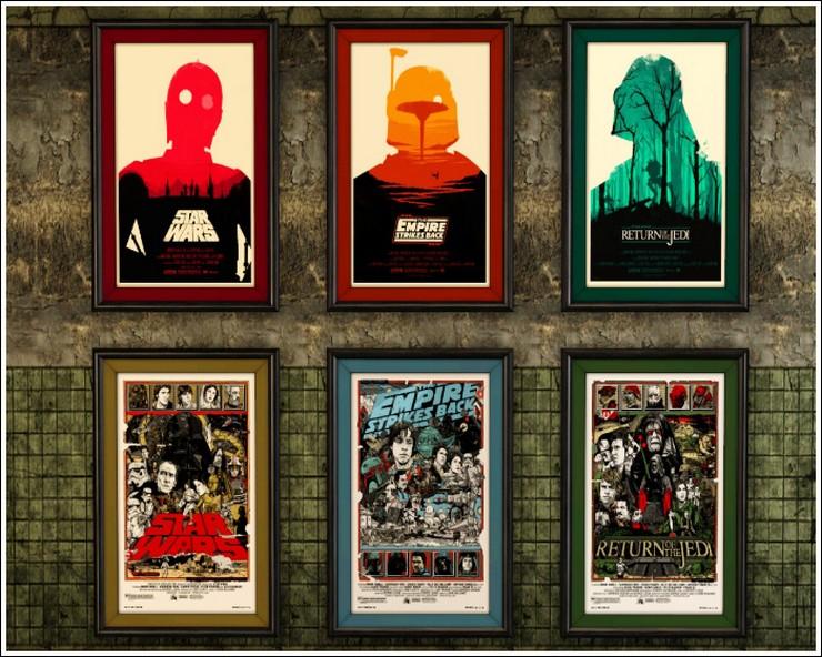 """""""Posters a gusto del consumidor y unos sencillos marcos negros para una pared llena de personalidad y de lo más atractiva""""  Las Paredes Vestidas, Mucho Más Atractivas: Arte Enmarcado o Framed Art 123"""