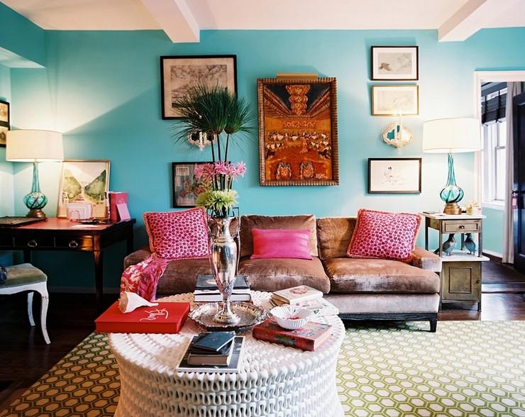 """""""Elegir el estampado de un sofá, de una alfombra, de los cojines o hasta de la ropa de cama puede llegar a ser decisivo para la decoración""""  Decorar con Diseños de Estampados a Todo Color 26"""