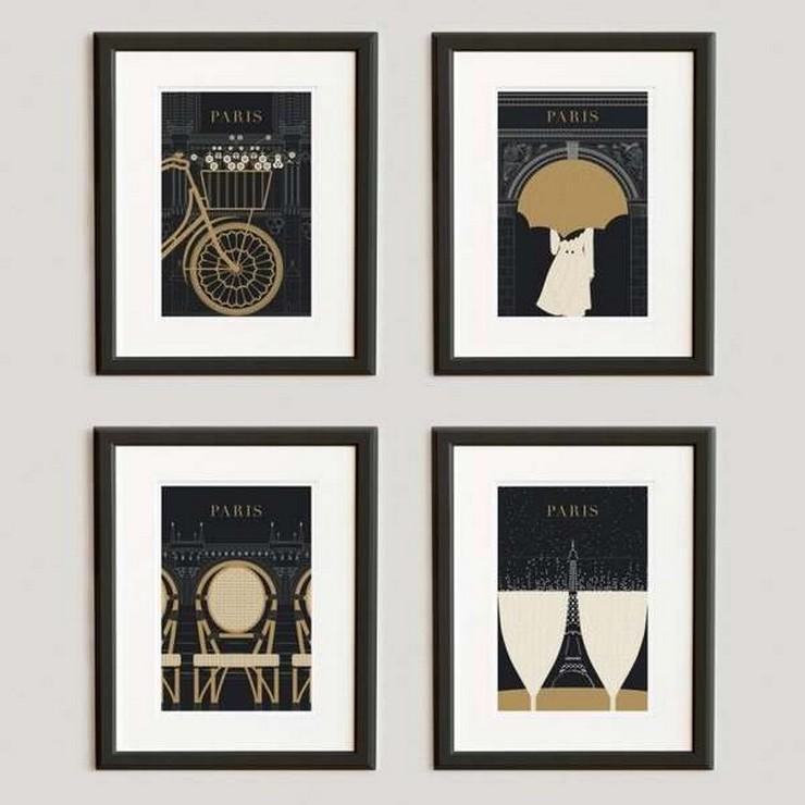 """""""Posters a gusto del consumidor y unos sencillos marcos negros para una pared llena de personalidad y de lo más atractiva""""  Las Paredes Vestidas, Mucho Más Atractivas: Arte Enmarcado o Framed Art 95"""