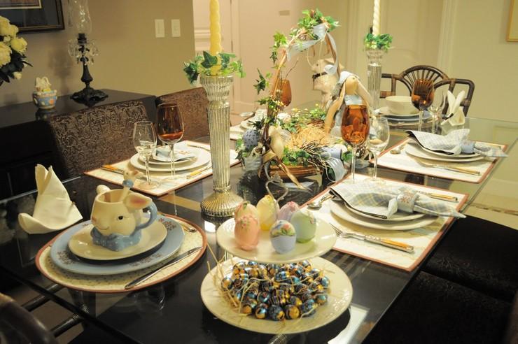 """""""Queremos mostraros algunas sencillas ideas para hacer un original centro de mesa para la época de Pascua.""""  Cómo decorar la mesa para Pascua Como decorar la mesa para Pascua 3"""