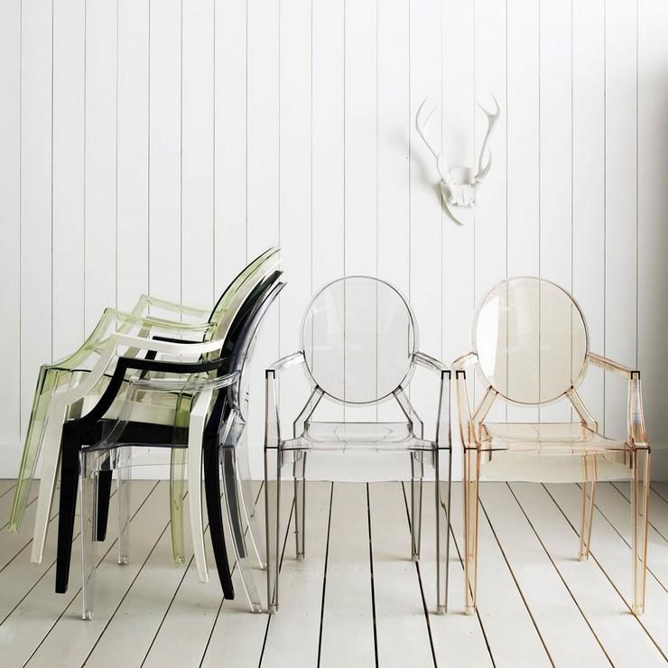"""""""Una cómoda butaca de policarbonato transparente y en varios colores con una línea Luis XV.""""  Ideas para Decorar: Louis Ghost, diseñada por Philippe Starck para Kartell Louis Ghost kartell1"""
