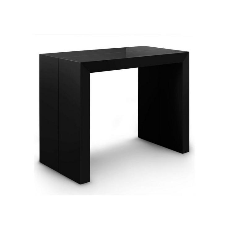 Mesa consola extensible xl negra 1 decorar una casa - Mesa consola extensible wengue ...