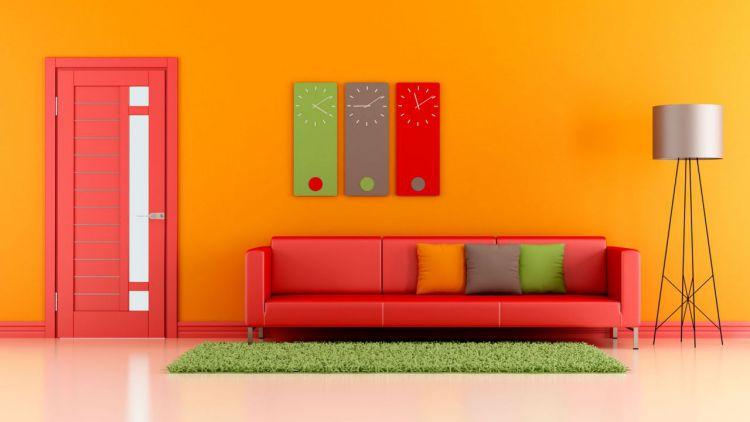 decorarunacasa Colores vivos para tu casa Colores vivos para tu casa paredes pintadas casa a todo color naranja