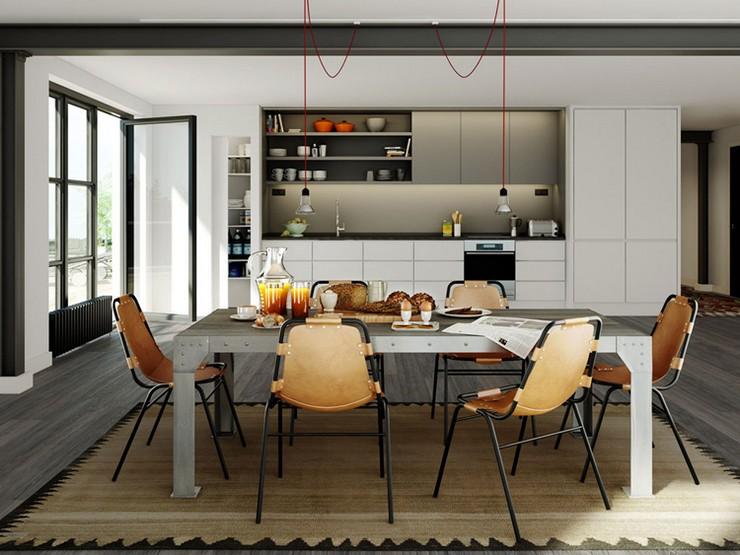 El estilo industrial se reinventa en hogares y locales - Iluminacion estilo industrial ...