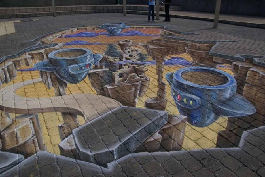 dibujos 3d Los 15 mejores dibujos 3D pintados en el suelo Imagem 2