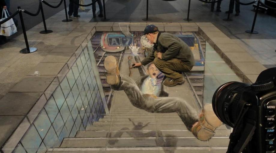 Los 15 mejores dibujos 3D pintados en el suelo dibujos 3d Los 15 mejores dibujos 3D pintados en el suelo Imagem 3