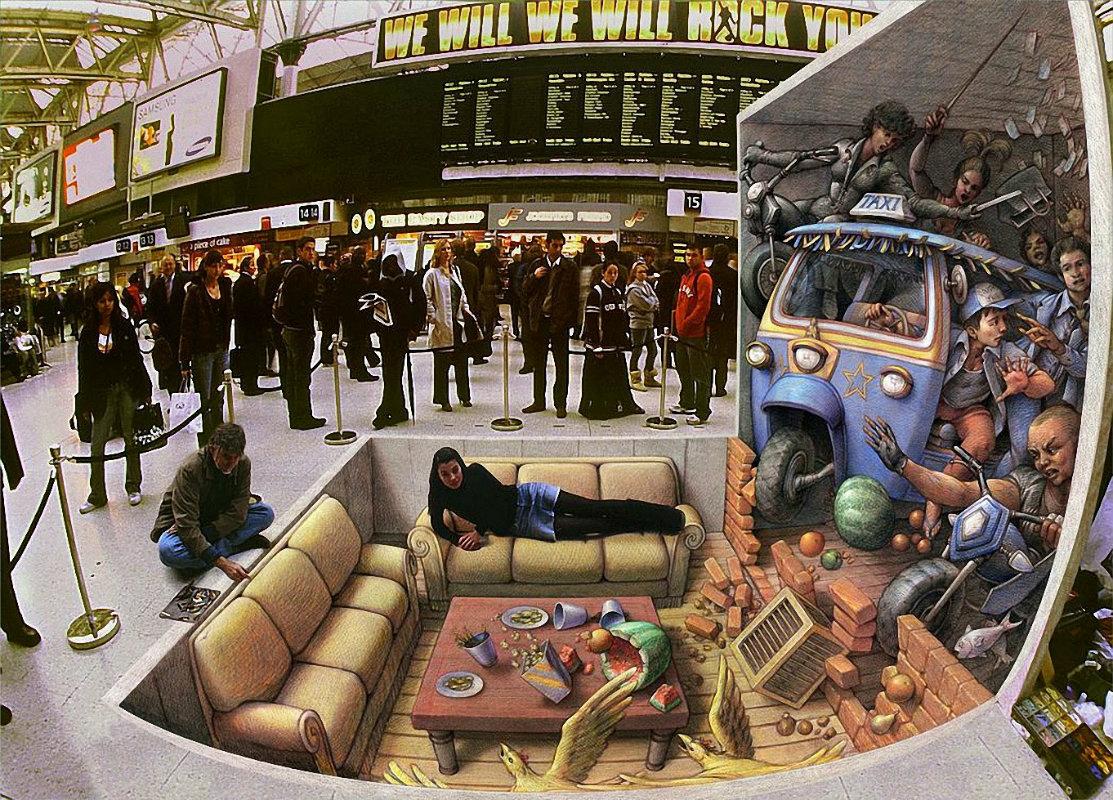 Los 15 mejores dibujos 3D pintados en el suelo