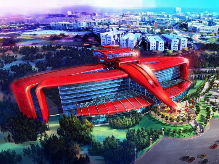 """Completo Ferrari que se va a construir en Barcelona""  Ferrari abrirá su primer hotel de lujo en Barcelona 1"