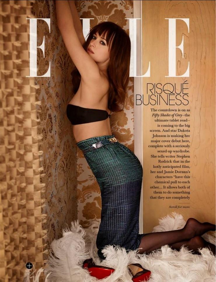 """""""La revista ELLE incluye una entrevista íntima a la actriz Dakota Johnson donde cuenta lo que significó para su carrera ser la protagonista de 50 Sombras de Grey"""" Dakota Johnson, la prota de '50 Sombras de Grey', en Portada 23"""