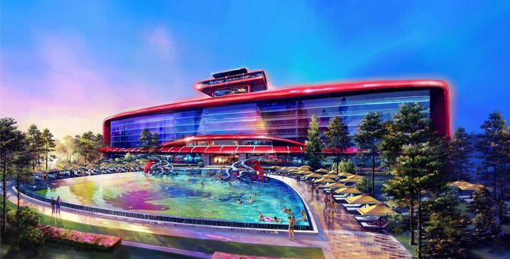 """Completo Ferrari que se va a construir en Barcelona""  Ferrari abrirá su primer hotel de lujo en Barcelona 3"