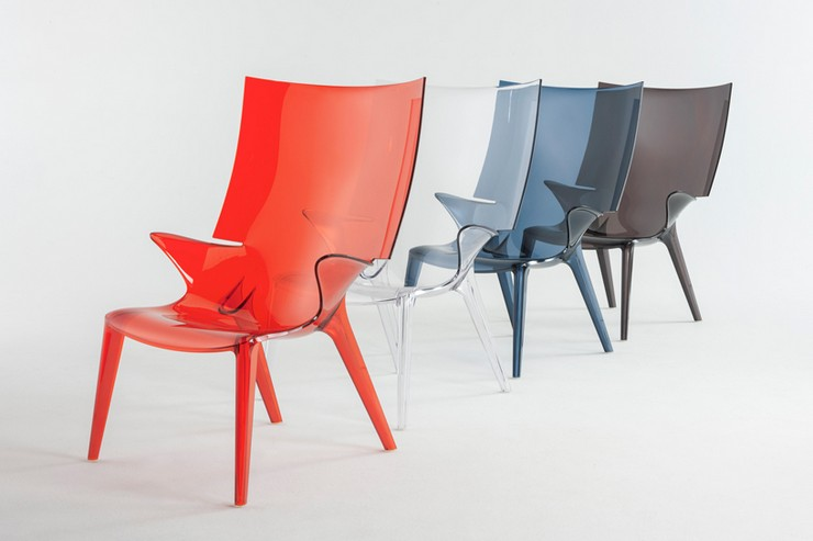 """""""Philippe Starck crea la mayor colección de policarbonato para Kartell""""  Las nuevas tendencias en i Saloni 2014 philippe starck kartell designboom03"""