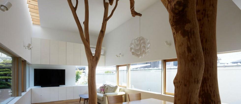 """""""decoración original con un verdadero árbol dentro de casa""""  Decoración para los apasionados por el diseño portada1"""