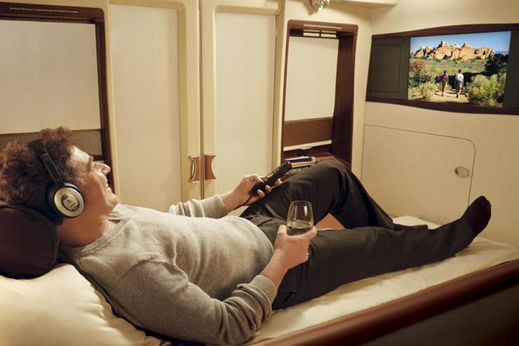 """"""" """"The Residence"""" de Eithad Airways tendrá áreas de oración, obras de arte, comida gourmet, televisor de LCD de 32 pulgadas, artículos de aseo de lujo y wifi, entre otras""""  Etihad Airways sobrepasa los límites del lujo DA6"""
