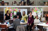 """""""Los clientes de este proyecto de ch+qs arquitectos fueron un grupo de jóvenes emprendedores que querían construir la sede de la red mundial THE HUB en Madrid; oficinas a tiempo compartido para emprendedores sociales, en las que se llevan a cabo proyectos de lo más variopinto que, básicamente, pretenden """"cambiar el mundo"""".""""  Hotel Sana en Berlín: rigor y elegancia de la mano de Rifé Emprendedores 156x100"""