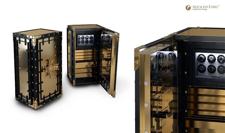 """""""La caja fuerte Knox pertenece a la Private Collection de Boca do Lobo y representa el nirvana de los tesoros, una lugar de lujo impenetrable donde tener protegidas las posesiones más valiosas del mundo""""  La caja fuerte Knox: Private Collection by Boca do Lobo Knox 1"""