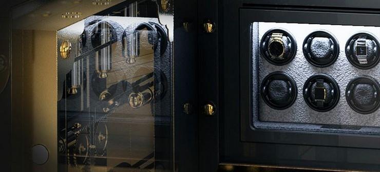 """""""La caja fuerte Knox Private Collection by Boca do Lobo - Es notable cómo funciona el método de seguridad por fuera, y al abrir la puerta puedes verlo realmente operar a través del cristal situado en el interior de la puerta""""  La caja fuerte Knox: Private Collection by Boca do Lobo f4a3cda959ee829a5e9d0dc68cda4b75"""