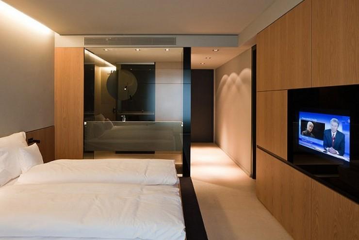 """""""El Hotel Sana ocupa un edificio de nueva planta de 15.710 m2, distribuidos entre espacios comunes, 159 habitaciones dobles, 13 suites y 42 apartamentos""""  Hotel Sana en Berlín: rigor y elegancia de la mano de Rifé 13 Francesc Rife Hotel Sana"""