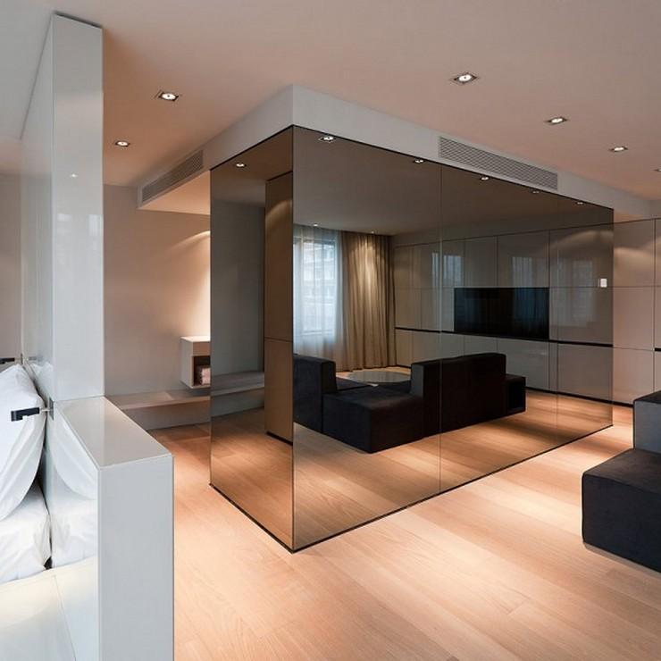 """""""El Hotel Sana ocupa un edificio de nueva planta de 15.710 m2, distribuidos entre espacios comunes, 159 habitaciones dobles, 13 suites y 42 apartamentos. Las habitaciones se han diseñado utilizando dos acabados diferentes, el lacado claro, brillante y el roble, con la intención de que el usuario que repita, tenga la opción de variar el ambiente en su nueva estancia en el hotel""""  Hotel Sana en Berlín: rigor y elegancia de la mano de Rifé 18 Francesc Rife Hotel Sana"""