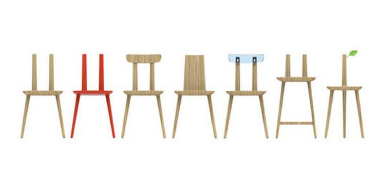 """""""Hay cinco diferentes versiones / generaciones de la silla de diseño Tabu, desde la silla con respaldo tradicional a una que hace las veces de mesa auxiliar. La más llamativa, una versión con un respaldo de plexiglás - Tabu by Eugeni Quitllet for Alias Design."""""""