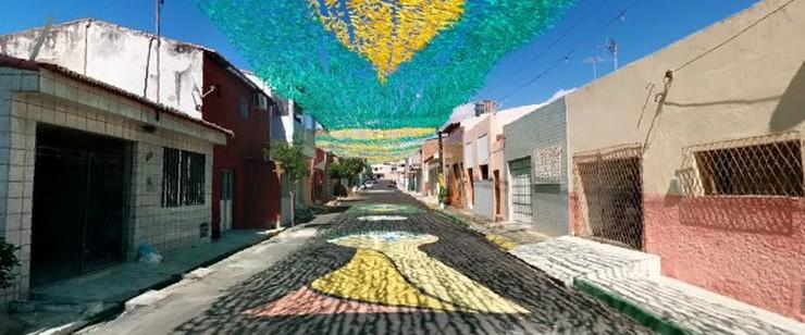 """""""Brasil ha decorado sus calles para recibir al Mundial de Fútbol 2014 - Google maps ofrece un recorrido por cada rincón de Brasil que nos permite ver las calles pintadas""""  Brasil decora sus calles para el Mundial de Fútbol 2014 calles"""