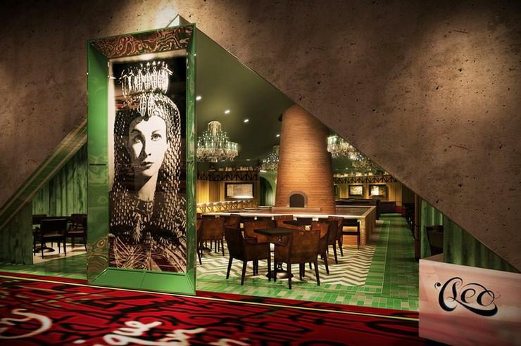 """""""SLS Rendering Cleo Restaurant - La colección Curio de Hilton se centrará en hoteles boutique de lujo, principalmente en los Estados Unidos y en Europa, y por ahora tiene acuerdos para cinco establecimientos en América, incluyendo el SLS Las Vegas""""  Hilton presenta su nueva marca Curio sls rendering cleo restaurant"""