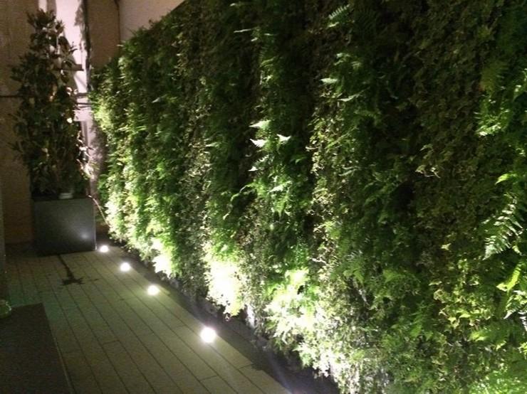 """""""Restaurante OTTO Madrid diseñado por Tomás Alía. En OTTO los fumadores también su lugar. Un bonito jardín interior permite a los fumadores salir y charlar mientras el aire adentro se mantiene limpio.""""  OTTO: un restaurante VIP diseñado por Tomás Alía 102716"""