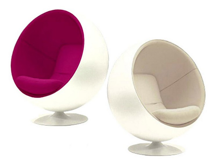 """""""La silla Eero Aarnio Ball Chair está disponible en rojo, blanco, azul, y para los más rebeldes, en fucsia"""" La silla Bola Aarnio: Sentarse es más que un verbo 5"""