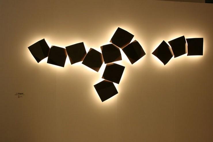 """""""Ideas para exteriores: el aplique Origami diseñado por Ramon Esteve para Vibia""""  Ideas para exterior: aplique Origami de Vibia Origami Ramon Esteve Vibia"""