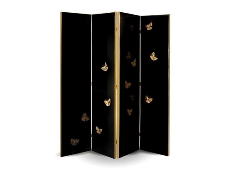 """""""La marca de mobiliario de diseño exclusivo Koket ha desarrollado un separador de ambientes de texturas de madera exótica y mariposas con siluetas delicadas.""""  Ideas para decorar: el biombo Euphoria by Koket b prodotti 69358 reled1654b634394d69968fcf89d858f755"""