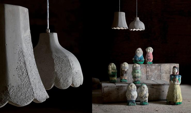 """Settenani y Biancaluce: una colección de cuento diseñada por Matteo Ugolini para Karman""  Settenani y Biancaluce: Lámparas de interior y exterior mammolo e pisolo"