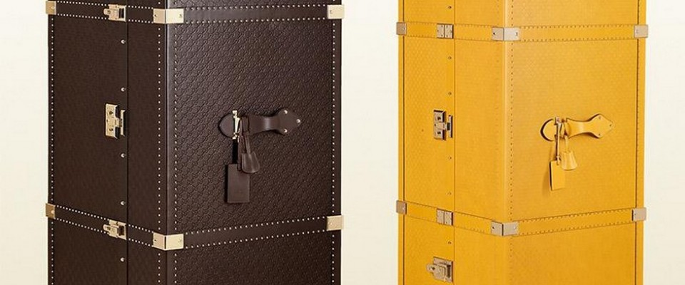 """""""La reconocida casa de moda italiana Gucci lanza dos baúles para viajar de alta gama en su versión masculina y femenina: Guccisima Leather Shoe Trunk y el Diamante Lux Leather Gucci Heritage Travel Trunk, están hechos a mano y a la perfección"""""""