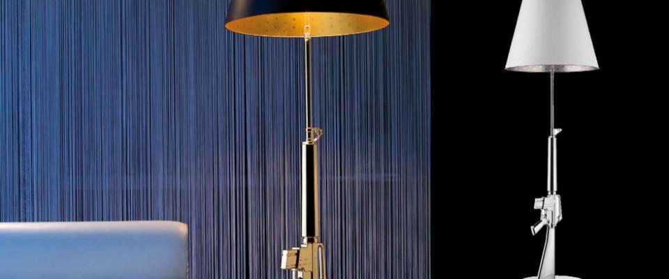 Gun Lounge Gun, lámpara de pie moderna de Philippe Starck