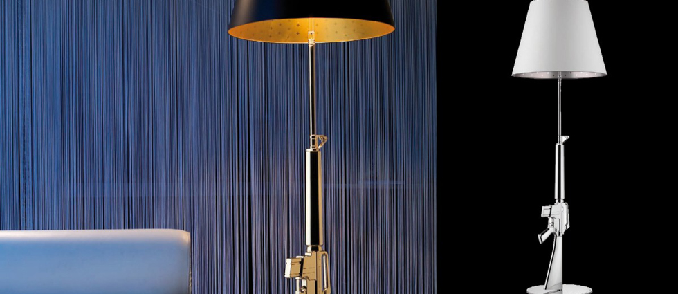 Gun Lounge Gun, lámpara de pie moderna de Philippe Starck Flos Lounge Gun de philippe starck slide 1
