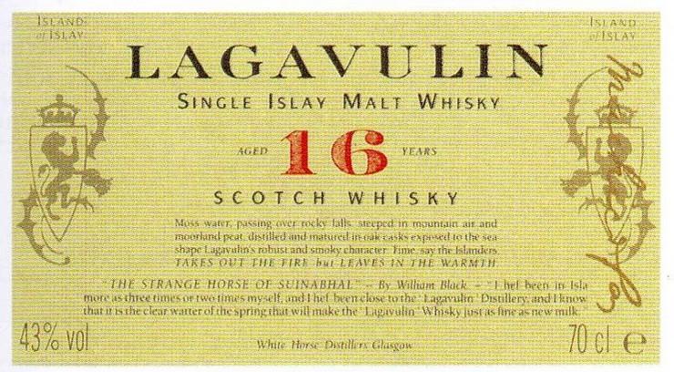 """""""Lagavulin está indicado especialmente para los amantes del whisky ahumado.""""  Lagavulin 16 Años, un whisky de los grandes clásicos de Islay Lagavulinbrandjpg"""