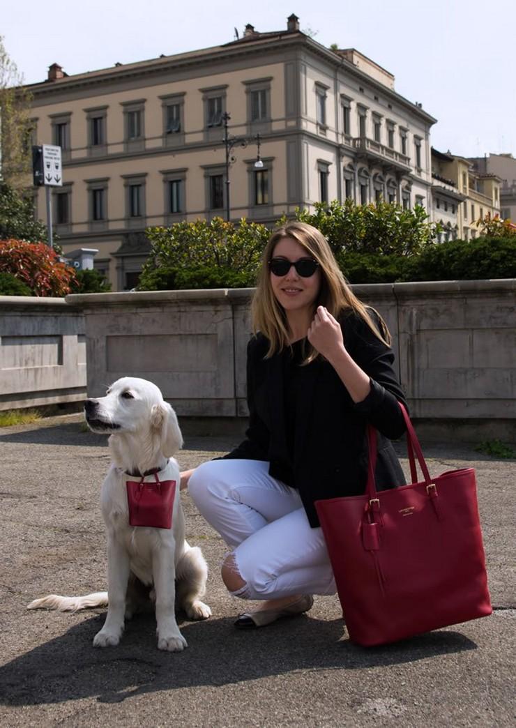 """""""Un lujoso bolso de marca puede ser una atrevida declaración de moda, y aun más si su perro también llevará una réplica en miniatura de tu bolso.""""  Pawbag, bolso de lujo en miniatura para tu perro bolso de cuero le parmentier saffiano"""